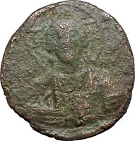 JESUS CHRIST Class A2 Anonymous Ancient 1028AD Byzantine Follis Coin i48314