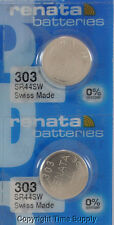 2 pc 303 Swiss Renata Watch Batteries SR44SW SR44 0% MERCURY
