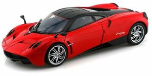 PAGANI HUAYRA diecast model road car red & black 1:18th scale MOTOR MAX 79160R