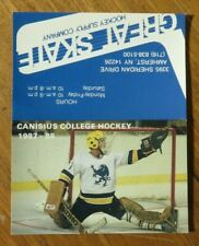 1987-88 Canisius College Hockey Schedule