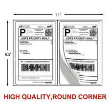 200 Shipping Labels 85 X 55 Half Sheets Round Corner 2label Per Sheet 85 X 11