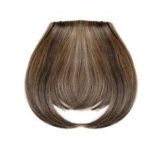 Girls Ladies Thick Human Hair Fringe Bangs Clip on in Black Brown Hair Extension