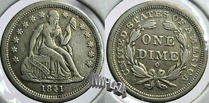 1841 O Seated Liberty Silver Dime  317L