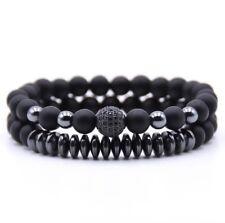 2pcs/set classic bead charm bracelet for men