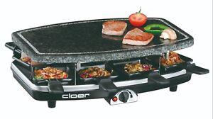 Cloer Raclette Grill 6430 Naturstein 8 Personen große Pfännchen  NEU