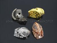 Zircon Gemstones Pave Sparta Helmets Masks Bracelet Connector Charm Beads