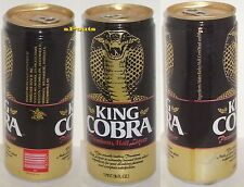 NICE KING COBRA MALT LIQUOR PINT BEER CAN ANHEUSER-BUSCH 11 CITY GOLD SNAKE FANG