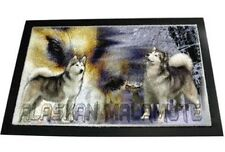 Designer Fußmatte Alaska Malamute 1 Malamut  Hundeteppich Fussabtreter
