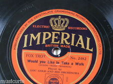 78rpm LOU GOLD ORCH would you like to take a walk / just two hearts & a waltz