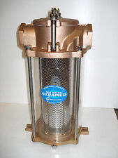 SEA WATER STRAINER, 2 inch inlet, Bronze Casting, Stainless Basket, Zinc Anode