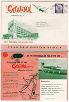 [26402] CIRCA 1961 CATALINA MOTEL, ATLANTIC CITY BROCHURE MAILER