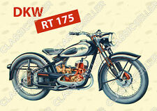 DKW RT 175 Motorrad Poster Plakat Bild Kunstdruck RT175 Affiche Foto Literatur