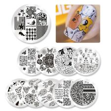 Born Pretty Nail Art Stamping Plate Penguin Dolphin Lace Selected Series