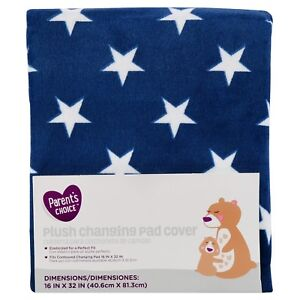 Parent's Choice Changing Pad Cover,Navy Blue Stars - see details