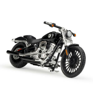Maisto 1:18 Harley Davidson 2016 BREAKOUT Bike Motorcycle Model BLACK NEW IN BOX