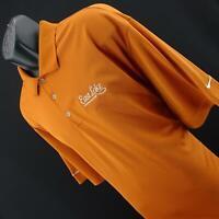 Mens Nike Golf Dri Fit Orange Performance Short Sleeve Polo Shirt Size 3XL XXXL