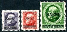 SAAR 1920 28-29,31 gestempelt TADELLOS SIGNIERT 690€(S1960