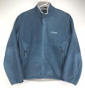 Marmot Women's Fleece Long Sleeve Zip Front Jacket Side Vented Blue Size Small