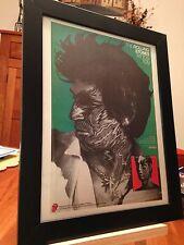 """Framed Original Rolling Stones """"Tattoo You"""" Lp Album Cd Promo Ad + free bonus!"""