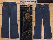 Broadway Jeans Girl 5 Pocket Boot Cut Low Hip dark blue denim W 26 L 32 Top