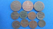 Lot Oldenburg 11 Stück 1 +3 Schwaren, 1/2 Groschen und 1/2 Grote in s-ss (F73)