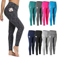 Women Yoga Pants Push Up Leggings Pocket Fitness Sports Gym Workout Trousers p5