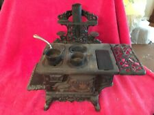 Vintage Crescent Cast Iron Wood Stove Salesman Sample Miniature Toy Accessories