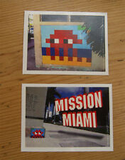Space Invader Stickers x2 Large Miami not print un-signed kit 1000 art4space