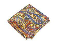 Lord R Colton Masterworks Pocket Square - Carnivale Orange Silk - $75 Retail New