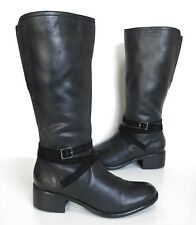 Ladies MONSOON Black leather knee length heeled boots Size 6 Exc Cond