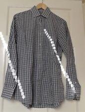 "A Man's Jaeger Black Grey & White Gingham Check Shirt Size 15"""