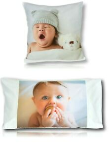 Personalised Cushion Cover or Pillow Case Photo Gift Smooth Vibrant Print