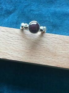 Star Ruby Ring. 925 Silver.Size Q1/2