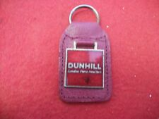 Dunhill leather key chain - red leather excellent mint condition FREE SHIPPING