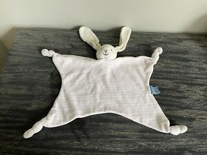 JOJO MAMAN BEBE CREAM BUNNY COMFORTER PINK STRIPE RABBIT Comfort Blanket