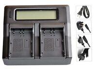 New Dual LCD Battery Charger For D-Li50 NP-400 Dli50 EN-EL3e D700 D300 D90 D80