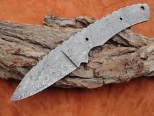 Couteau, damassé lame, Damascus Blank Blade, motifs de roses.