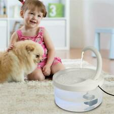 2L Auto Electric Pet Water Fountain Cat Dog Led Drinking Dispenser W/ Filter Us