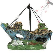 Landscape Pirate Ship Aquarium Fish Tank Ornament Accessories Decoration