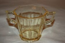 "Marked Heisey Sahara Yellow Sugar bowl ""H"" Glass with original foil label"