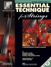 Essential Technique for Strings Essential Elements Book 3 Teacher Manu 000868073