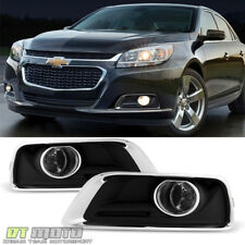 Fits 2013-2015 Chevy Malibu Fog Lights Driving Bumper Lamps w/Switch+Bulbs+Cover