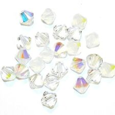 SCB5519 Frost Mix Clear AB Opal Moonlight 6mm Bicone Swarovski Crystal Bead 24pc