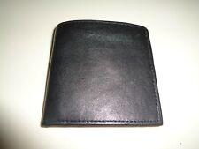 "Boys Black Leather Bifold Wallet 3.25"" x 3.25"" Folded Nwot"