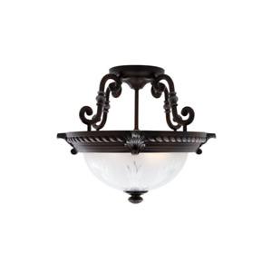 Bercello Estates Volterra Bronze Flushmount Ceiling Mount Light Fixture Lamp