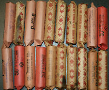 20 rolls of wheat pennies! That's 1,000 coins All pre 1959 WOW!!!