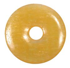 Calcita Naranja Aragit Amarillo Donut Colgante Gema 30mm Piedra de Cristal Pi