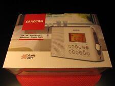 SANGEAN H201 AM FM RADIO WHITE W/ WEATHER ALERT WATER PROOF BRAND NEW IN BOX !