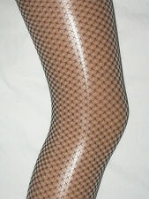 Black White Fishnet Ladies Tights. 8-12  NEW pantyhose lace office smart