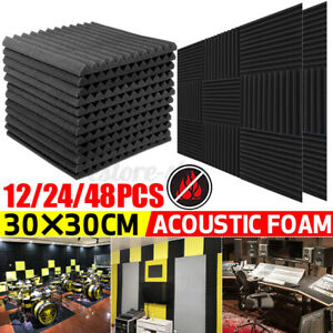 UK Acoustic Foam Panels Sound Proofing Insulation Studio Wall Tiles Closed Cell